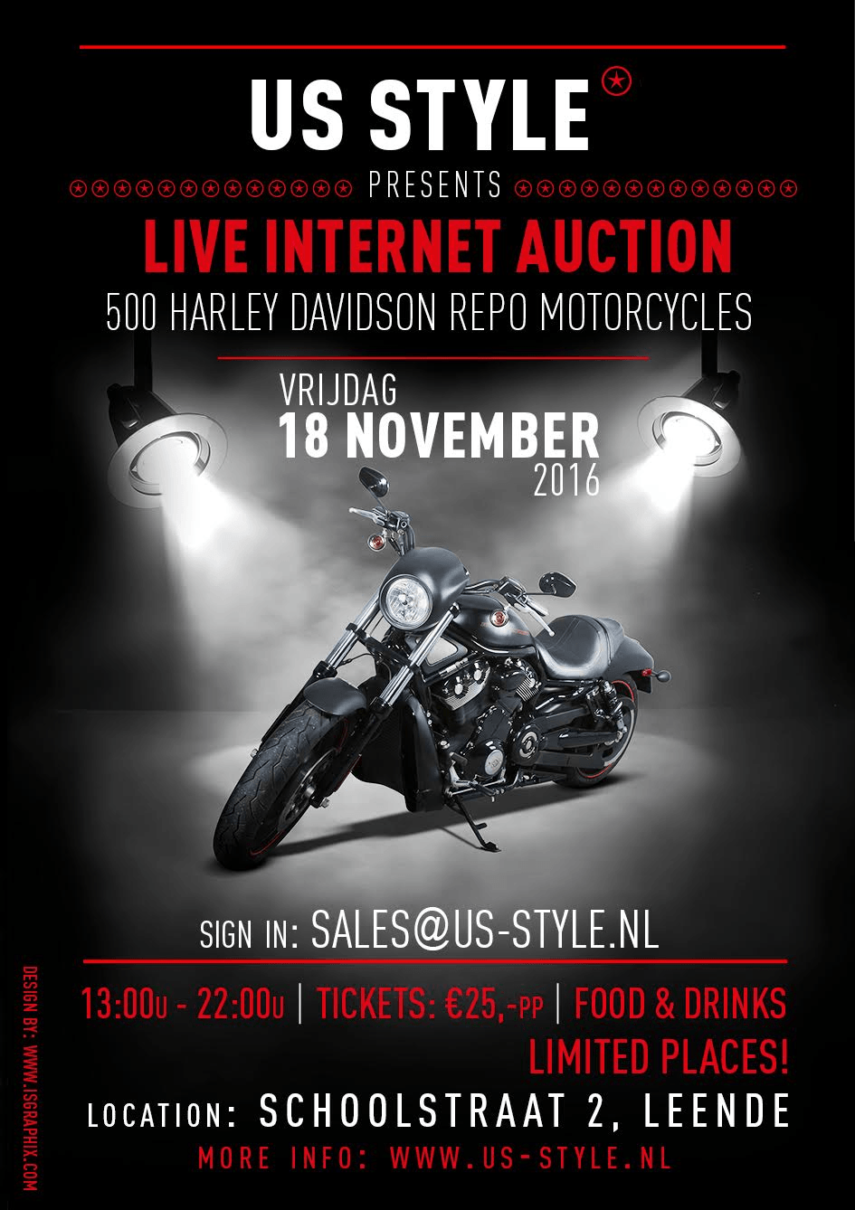 live harley davidson auction